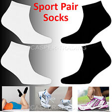12 or 24 Pairs Mens Womens Trainer Cotton Rich Sports Work Socks Shoes Black Lot 1 Pair Grey