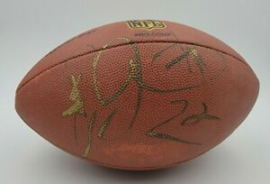 Emmitt Smith Autographed Football Cowboys Signed At Charity Event Vintage No COA