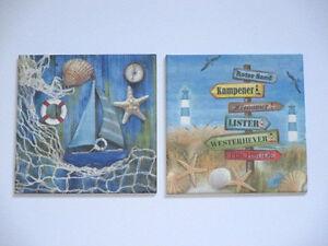 2 maritime Bilder, Segelboot, Muschel, Netz, Kampen, List, Sylt, Urlaub, Strand