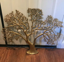 """Vintage Mid-Century Brass """"Tree of Life"""" Wall Mounted Sculpture  24"""" X 30"""""""