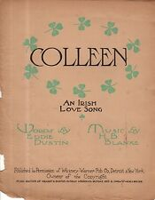 1905 Colleen Newspaper Insert Irish Love Song by Dustin and Blanke