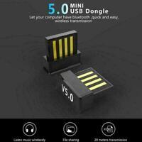 Mini USB Bluetooth 5.0 Adapter CSR Wireless Dongle For PC 8 Laptop NEW Win7 W5G8