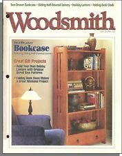 Woodsmith - 1998, December - Two-Drawer Bookcase, Folding Desk Clock Project