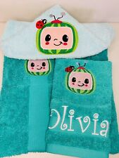 Cocomelon Personalised Character Hooded Towels Beach/ Bath/ Swimming Lessons