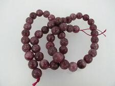 Lepidolite round beads 8mm. Genuine gemstone beads. Natural purple beads