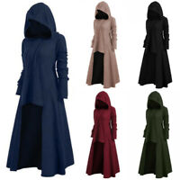 Womens Gothic Steampunk Hooded Long Sleeve Sweater Dress Party Casual Plus Size