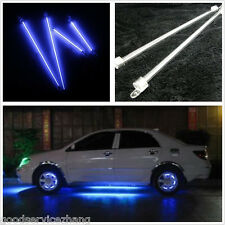4Pc BLUE CCFL Cold Cathode Tube Car Footwell Undercar Underbody Atmosphere Light