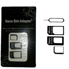 SIM Card to Micro Standard Adapter Adaptor Converter Set For Iphone 4S 5 5S GRA