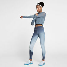 Nike Epic Lux 2.0 Women's Printed Running Tights M Blue Casual Gym Training New
