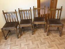4 Esszimmerstühle, Holz, Eiche/Buche massiv, altdeutscher Stil