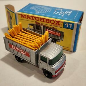 11-D NM/MINT! w/F Box Mercedes Scaffold Truck Lesney Matchbox circa '69