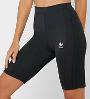 WOMENS ADIDAS ORIGINALS CYCLING SHORTS BLACK 3 STRIPES SIZE UK 14 LAST TWO