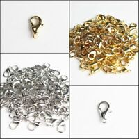 100/500Pcs Lots Gold Platinum Lobster Claw Clasp for Necklace Jewelry Making DIY
