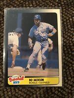 Bo Jackson  Kansas City Royals 1990 Fleer MVP Baseball Card Printed In Canada!!