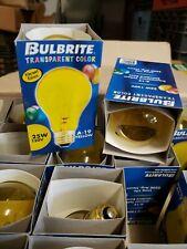 Bulbrite 105826 25 Watt Incandescent A19 Light Bulb Transparent Yellow