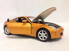 "Nissan 350Z, Collectibles, 7"" Diecast 1:24 Scale, By Maisto Toys Gold"