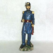 """US UNION CIVIL WAR 12"""" OFFICER WITH SWORD AND PIPE STANDING FIGURE HAND PAINTED"""