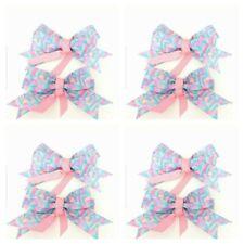 Handmade Girls Flamingo Hair Bows  Sold in Pairs