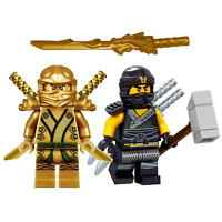 NEW LEGO NINJAGO GOLDEN NINJA LLOYD & COLE MINIFIGURE SET GOLD ZX 70503 BATTLE