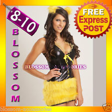 B71 New Queen Bumble Bee Fancy Dress Adult Costume 8 10