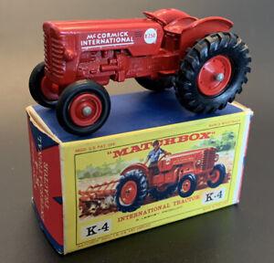 1960 Lesney MATCHBOX K-Size 'INTERNATIONAL TRACTOR'-K4--see photos & more models