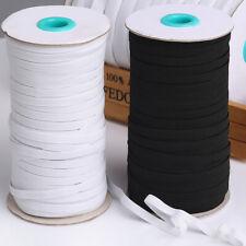 "100 Yards 6mm Elastic Trim Flat Elastic Band Rubber Strap Stretch Sewing 1/4"" US"
