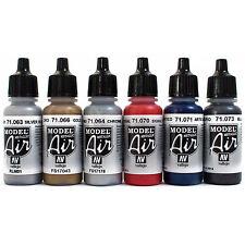 Vallejo Airbrush Farben Set 6x 17ml *Metallic Airbrushfarben Acrylfarben