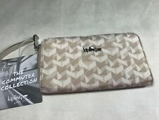 New $49 Kipling Vanessa Optic Beige K Print Zip-Around Wallet Organizer