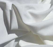 "60"" White Tencel Faille Light Weight Opaque Woven Fabric By the Yard"