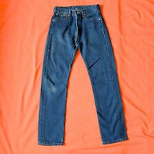 Levi's 501 0118 Vintage 90's Denim Button Fly Blue Jeans Size 28 x 32 Usa Red B