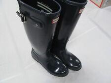 Hunter Women's Original Tall Knee-High Rubber Rain Boot Navy Gloss size 9