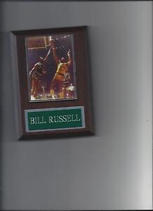 BILL RUSSELL & WILT CHAMBERLIN PLAQUE BOSTON CELTICS LA LAKERS BASKETBALL NBA