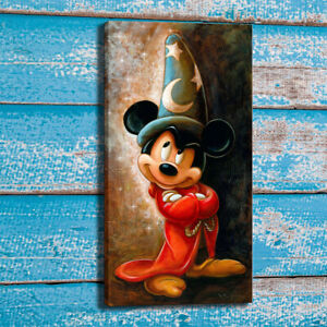 Canvas Art Print Disney Sorcerer Mickey Mouse Home Wall Decor Painting 12x24