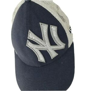 NWT New Era Legends NEW YORK YANKEES SEQUIN Shimmer Yourth or Adult Hat