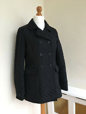 HOBBS Black Quilted Winter Coat Jacket Size UK 12 HARDLY WORN