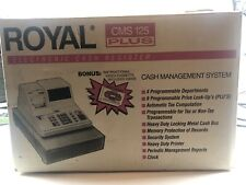 Royal Cms 125 Plus Electronic Cash Register New In Box Complete