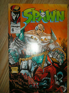SPAWN # 6 1st APPEARANCE OF OVERTKILL TODD McFARLANE $1.95 1992 IMAGE COMIC BOOK