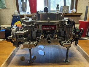 Edelbrock 1826 Thunder Series AVS Carburetor 4v 4bbl 650 CFM Electric Choke
