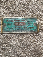 France banknote - 500 cinq cents francs - year 1944 - Allied Military Currency