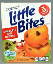 (3)-Entenmann's Little Bites-Chocolate Chip Mini Muffins. Free Shipping!