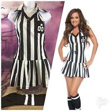 "Spirit Black Label ""Sexy Referee"" size Medium 3 piece Halloween Costume"