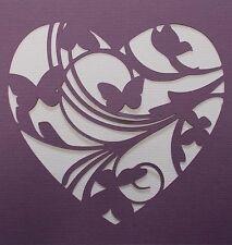 Scrapbooking - STENCILS TEMPLATES MASKS SHEET - Butterfly Heart Stencil
