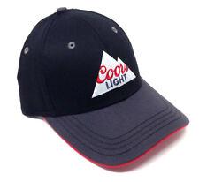 COORS LIGHT ROCKY MOUNTAINS LOGO BLACK GREY HAT CAP ADJUSTABLE RETRO CURVED BILL