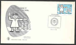 ARGENTINA - 1968 Road Safety - FIRST DAY COVER.