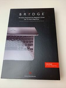 """NEW Brydge 11.0 Bluetooth Keyboard for Apple iPad Pro 11""""- Space Gray-"""