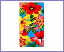 Animal Print Floral Bath Towels
