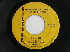 Detroit Soul '70 Bilesse 45 Record Bill Moss ~ Everything Is Going To Be Alright