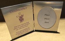 Silver GODMOTHER Photo Frame -  Gift Communion Baptism Religious