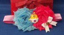 EASTER EGG CHICK Flower Handmade Hair Bow Head Band - Baby Girl Infant