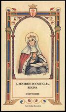 santino-holy card B.BEATRICE DI CASTIGLIA REGINA  mercedaria